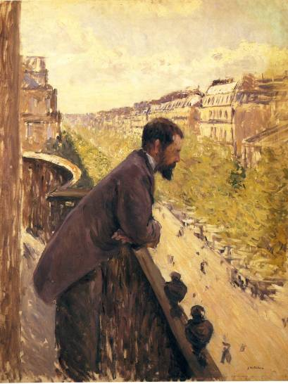 Man on a Balcony - Gustave Caillebott