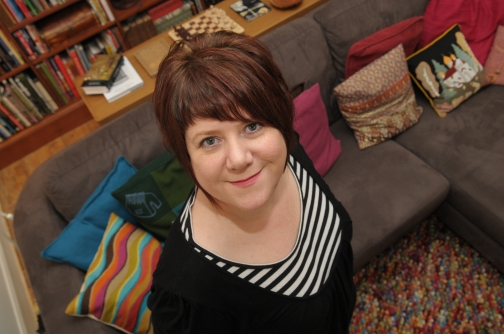 Author Louise Welsh at her home in Glasgow