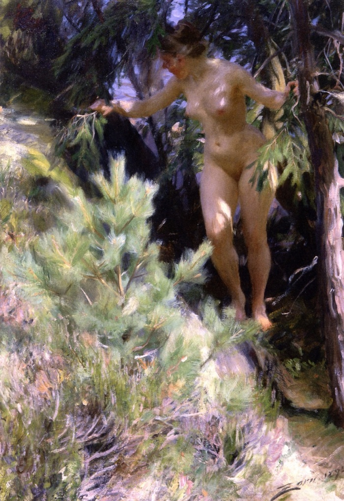 Nude-under-a-Spruce-Tree-1892-by-Anders-Zorn
